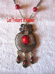 """Sautoir Style """"Oriental"""" Dans les Tons Rouge/Or : Collier par les-tresors-d-alienor"""