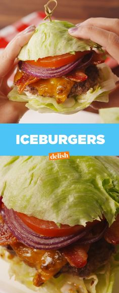 FINALLY a low-carb burger where you won't miss the bun. Get the recipe from Delish.com.