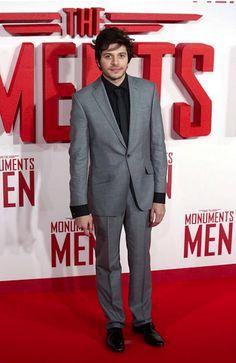 Dimitri Leonidas wearing Ted Baker Footwear during Monuments Men UK Premier 11.02.14