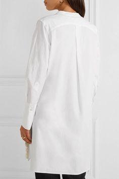 Isabel Marant - Minea Crochet-trimmed Cotton-poplin Tunic - White - FR40