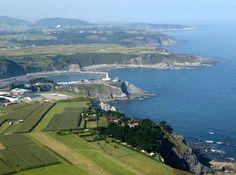 "Sea in Asturias (Spain) near Camping ""Los Cantiles"""