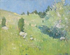"""Spring,"" Emil Carlsen, oil on canvas, 16 x 20"", private collection."