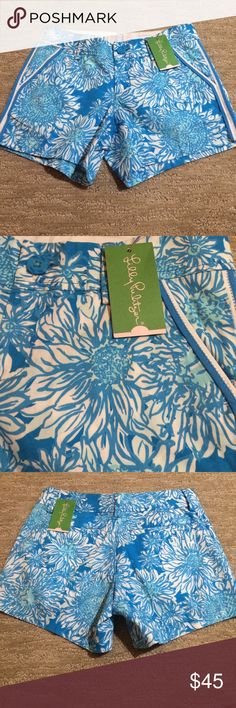 """NWT Lilly Pulitzer Lion Sun Callahan Shorts Blue NWT Size 0 Ariel Blue Lion In The Sun Callahan Shorts with 5"""" inseam.  Please see my other listings for more great finds!  I offer discounts on bundles! Lilly Pulitzer Shorts"""