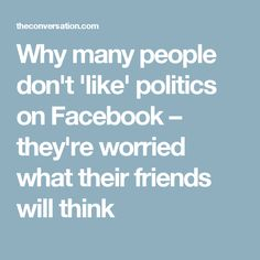 I like you, but won't 'like' you. Politics On Facebook, Media Influence, No Worries, Friends, People, Red, Blue, Amigos, People Illustration