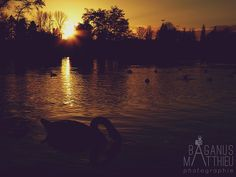 coucher de soleil au plan d'eau de Metz