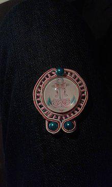 Odznaky/Brošne - Nádej I - soutache - 6643660_ Bling, Accessories, Jewel, Jewelry Accessories