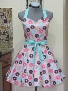 The Sexy Dount Shop Pin Up Apron  With a cute by AquamarCouture, $37.00