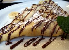 Crepes with Nutella! Best served in Paris, France! They make THE best crepes there!