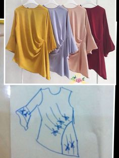 Amazing Sewing Patterns Clone Your Clothes Ideas. Enchanting Sewing Patterns Clone Your Clothes Ideas. Dress Sewing Patterns, Blouse Patterns, Clothing Patterns, Blouse Designs, Fashion Sewing, Diy Fashion, Sewing Blouses, Diy Vetement, Techniques Couture