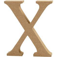 Bogstav, H: 13 cm, mdf, X