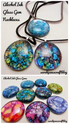 Alcohol Ink Glass Gems DIY Craft Tutorial Overview