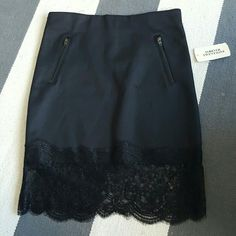 Forever 21 small black lace trim skirt Size small New with tags Ine small pull on front Forever 21 Skirts Mini