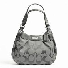 Coach Soho Signature Hobo Shoulder Handbag 19445 Grey