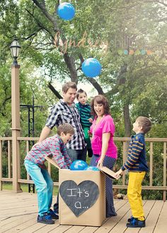 Our gender reveal picture for baby boy #4!! Maternity photos are fun!