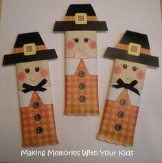 Thanksgiving Pilgrim Candy Bar Wrapper {Free Printable}