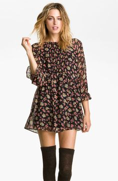 Free People 'Doll Pants' Chiffon Minidress | Nordstrom i want this for winter with some tights and boots!!! perfect!