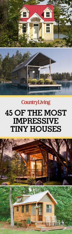 The tiny house movement isn't necessarily about sacrifice. Check out these small house pictures and plans that maximize both function and style! These best tiny homes are just as functional as they are adorable. Tiny House Cabin, Tiny House Living, Tiny House Plans, Tiny House Design, Small Living, House Ideas, Tiny House Movement, Tiny Spaces, Little Houses