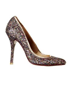 Eye-Catching Sparkly Shoes Partner glittery shoes, available in an array of styles and heel heights, with average jeans or an everyday dress for sparkling results.