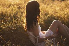 Girl's in grass