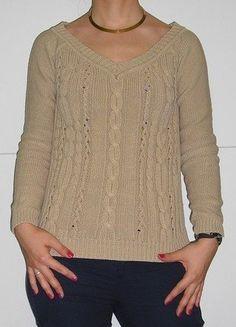 Kupuj mé předměty na #vinted http://www.vinted.cz/damske-obleceni/s-v-vystrihem/13919371-bezovy-nude-pleteny-svetr-3638