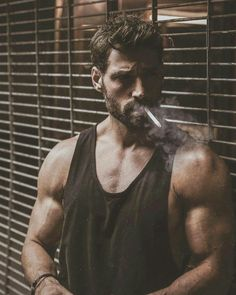  Joseph Cannata When you're looking at those strangers  Hope to god you see my face 💀 📷 Hot Guys Smoking, Man Smoking, Smoking Kills, Hairy Men, Bearded Men, Joseph Cannata, Cigarette Men, Men Smoking Cigarettes, Male Models Poses