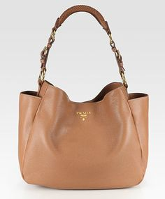 Prada Vitello Daino Side Pocket Hobo