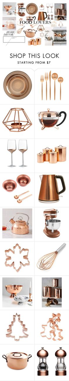 """Copper Kitchen"" by silvermist23 ❤ liked on Polyvore featuring interior, interiors, interior design, home, home decor, interior decorating, Europe2You, Cutipol, H&M and Bodum"