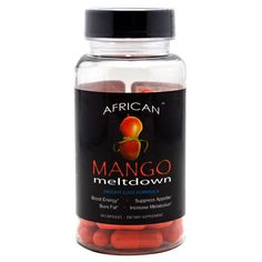 African Mango Meltdown | 6 Pack | Raspberry Ketones | Fat Burner | Appetite Suppressant | As seen in Dr. Oz's first for women article - African Mango Meltdown | 6 Pack | Raspberry Ketones | Fat Burner | Appetite Suppressant | As seen in Dr. Oz's first for women article  List Price: $239.00   Clinically Tried Amounts of African Mango & Raspberry Ketones Burn Fat, Suppress Appetite, Increase Metabolism, Shrink Waist Size Boost Energy without the jitters Average
