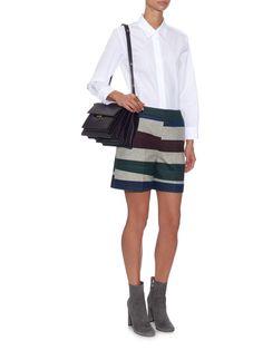Striped wool-blend shorts | Carven | MATCHESFASHION.COM UK