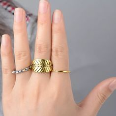 Antique Gold Leaf Midi/Knuckle 3 piece Ring Set! NWOT, Vintage, 3 piece Antique Gold & Silver Plated Above Knuckle/Midi Ring Set! Largest Ring with Leaf/Branch pattern, adjustable to size 6-7! Antique Silver Ring is Rivet Style!➳➳This set is also available with the Leaf ring in Vintage Silver! Please ask any questions! Price firm unless bundled! ❌Trades ❌PP Jewelry Rings