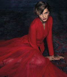 Fashion Inspiration | Shades Of Red - skirt & jacket by Dior | photo by tesh