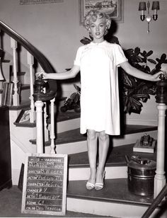 Marilyn in a costume test for The Seven Year Itch, 1955.