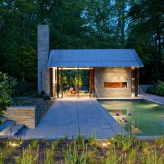 Nevis Pool and Garden Pavilion / Robert M. Gurney Architect I want a pool house! Oh yeah, gotta have the pool Garden Pavillion, Backyard Pavilion, Outdoor Pavilion, Backyard Barn, Backyard Cottage, Pool Backyard, Backyard Retreat, Moderne Pools, Pool Houses