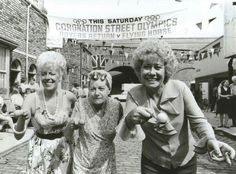 1960 - Coronation Street - Conjuring much-loved moments including Hilda Ogden's… Magic Memories, Childhood Memories, 1970s Childhood, Coronation Street Cast, Manchester, Vintage Tv, Old Tv, Classic Tv, Music Tv