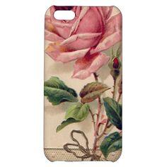 Pink Vintage Rose iPhone 5C Cases