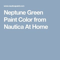 Neptune Green Paint Color from Nautica At Home