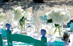 Florida-Keys Style Beautiful Beach Wedding Decor. #beachwedding #florida #wedding © Galina Vitols