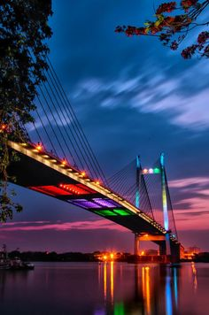 Vidyasgar Setu Bridge, The Hooghly River, Kolkata, India!