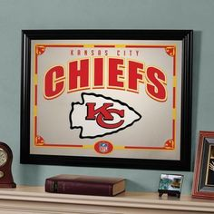Kansas City Chiefs Framed Mirror Wall Decoration