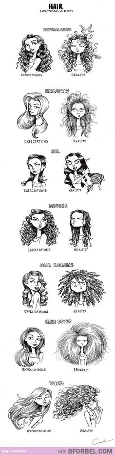 7 Hair Expectations Vs Reality Scenarios… so true!