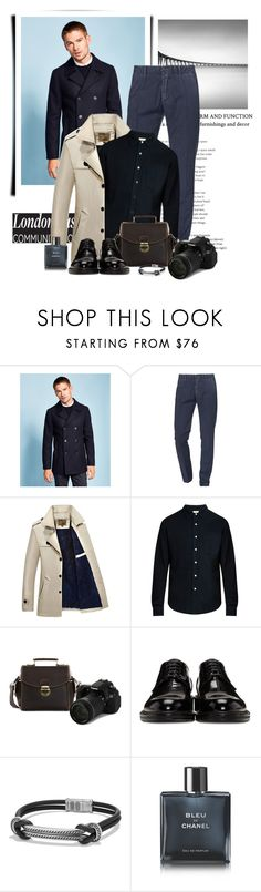 """Untitled #961"" by www-gufi on Polyvore featuring Ted Baker, Myths, Simon Miller, Loewe, David Yurman, Chanel, men's fashion and menswear"