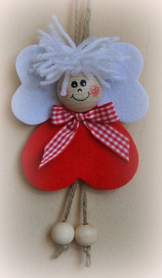 Best 12 Merry Christmas Wishes : These are really lovely festive – SkillOfKing. Diy Christmas Angel Ornaments, Christmas Decorations Sewing, Quilling Christmas, Merry Christmas Wishes, Christmas Crafts For Kids, Felt Christmas, Christmas Angels, Simple Christmas, Xmas Crafts