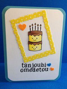 Paper Crafting Sunshine: Japanese Happy Birthday