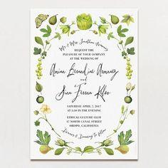 Chartreuse Light Wedding Invitation