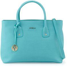 Furla Josi East-West Medium Leather Tote Bag (245 CAD) ❤ liked on Polyvore