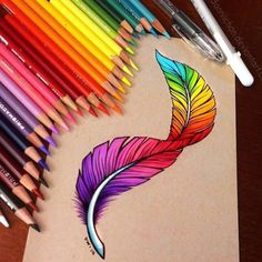 Colorful Feather by @Dannii_chan