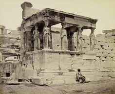 Francis Bedford :: The Caryatid porch of the Erechtheion, Athens, circa 1862.