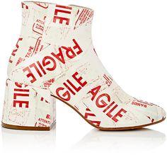 MM6 Maison Margiela Women's Chunky-Heel PVC Ankle Boots
