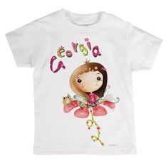 girl's t shirt stamp/baby tshirt/fairy by babyartshop on Etsy Little Girl Names, Little Girls, Pumpkin Outfit, Cute Fairy, Personalized T Shirts, Your Girl, Fairies, Clip Art, Stamp