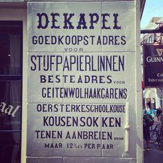 Amsterdam, 13 Juli 2013, met Mike Schellekens door oud Amsterdam. Reclame kan zo mooi zijn.
